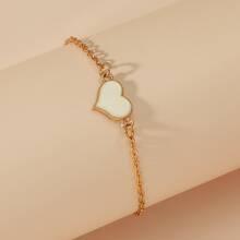 Armband mit Herzen Dekor und Kette