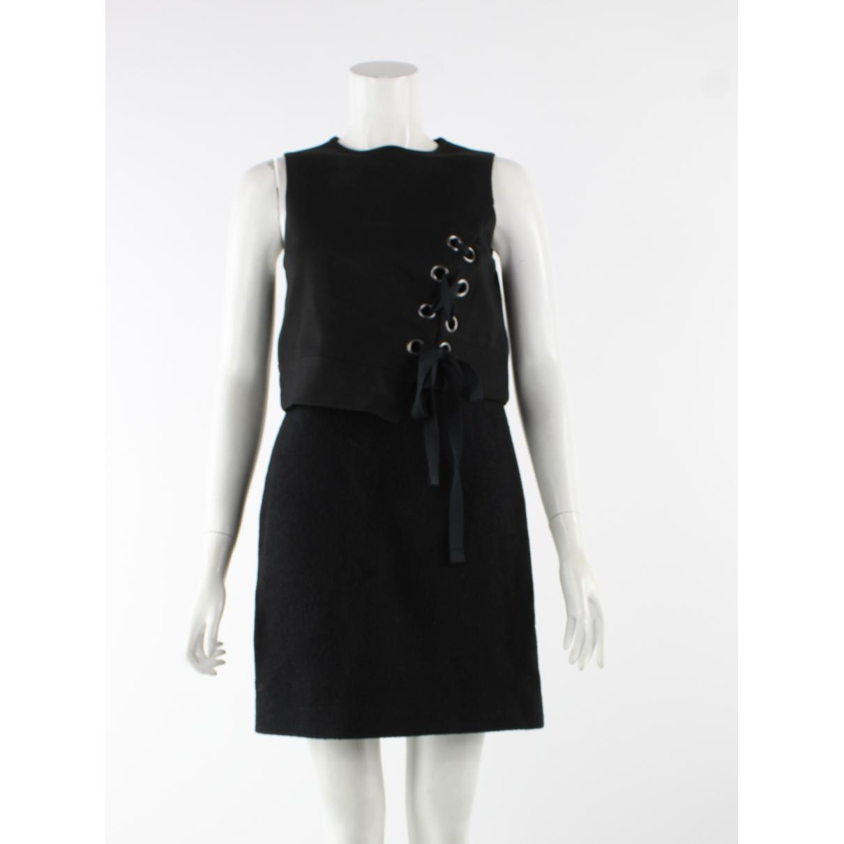 Tibi \N Kleid in  Schwarz Wolle