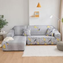 1 Stueck Sofabezug mit geometrischem Muster ohne Kissen