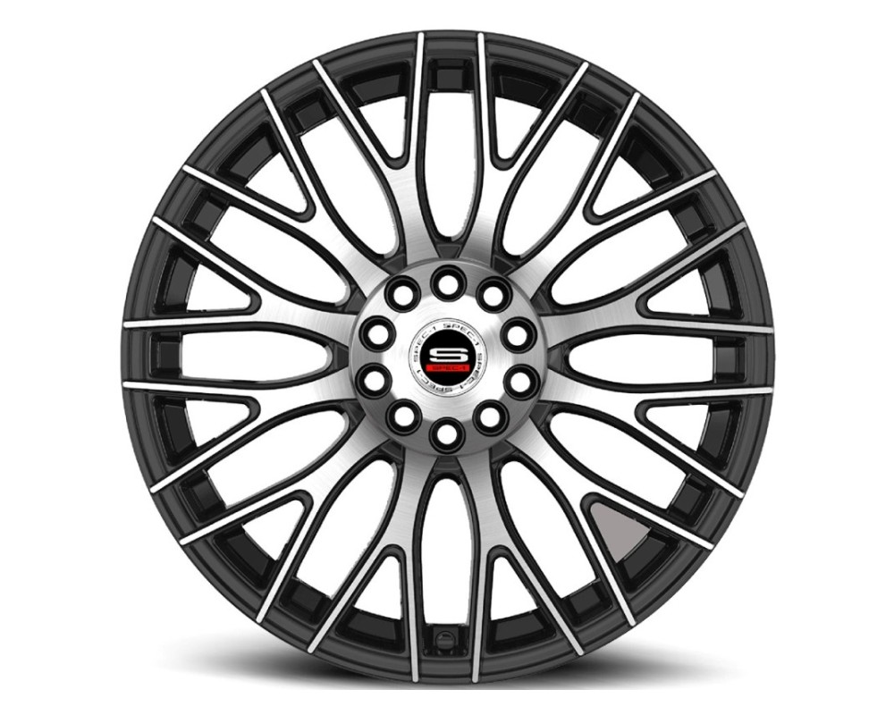Spec-1 SP-55 Wheel Racing Series 20x8.5 5x112|5x114.3 38mm Gloss Black Machined