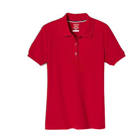 French Toast Toddler Girls Short Sleeve Polo Shirt, 2t , Red