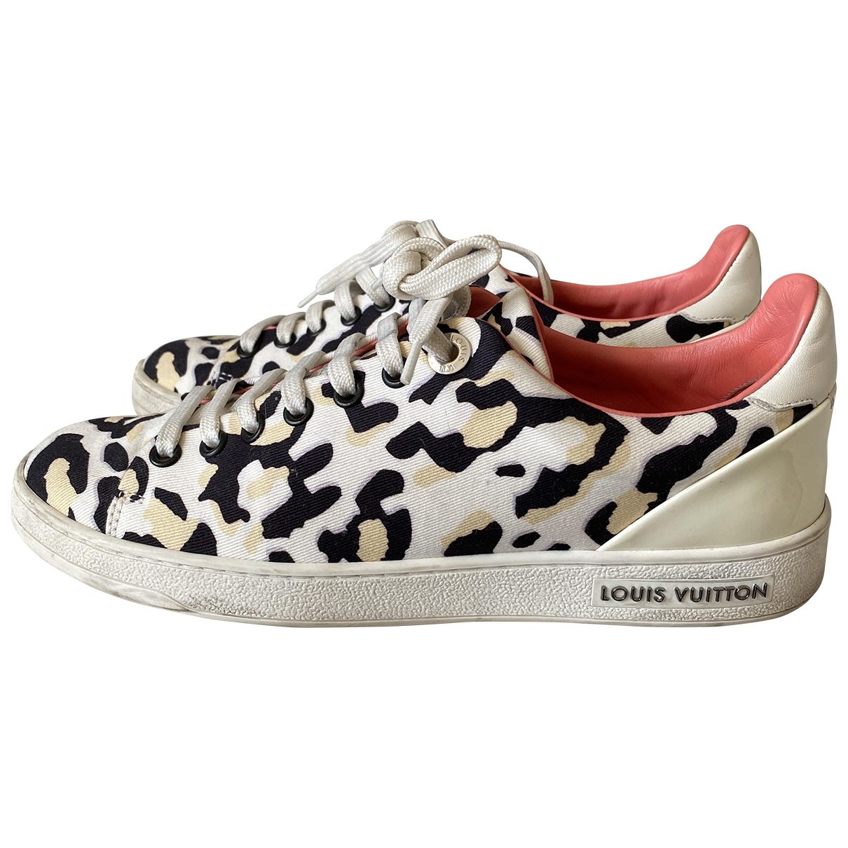 Louis Vuitton FrontRow White Cloth Trainers for Women 36.5 IT