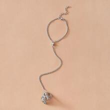 Rhinestone Finger Ring Bracelet