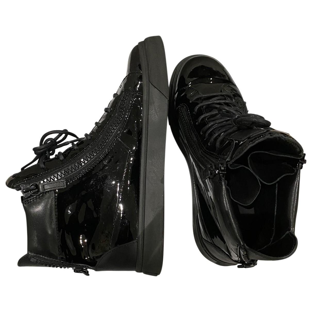 Giuseppe Zanotti \N Black Patent leather Trainers for Men 41 EU