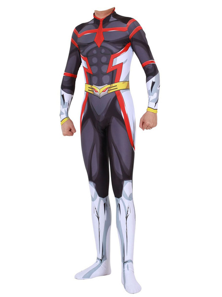 Milanoo Halloween Disfraz Carnaval Traje de Zentai de My Hero Academia BNHA All Might Cosplay de Halloween Carnaval