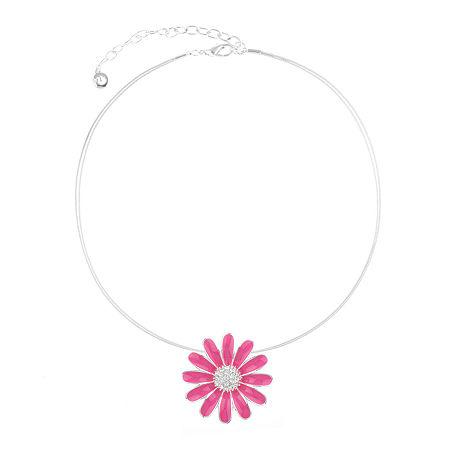 Gloria Vanderbilt 16 Inch Pendant Necklace, One Size , Pink