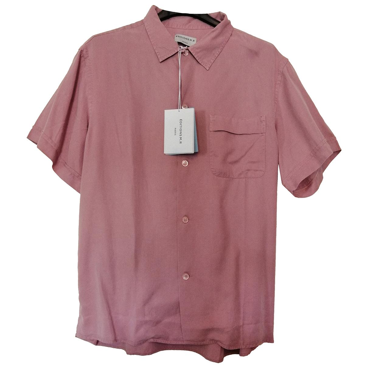 Editions M.r - Chemises   pour homme en coton - rose