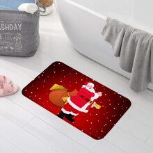 Bodenmatte mit Weihnachtsmann Muster