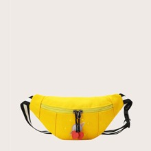Cartoon Embroidered Fanny Pack