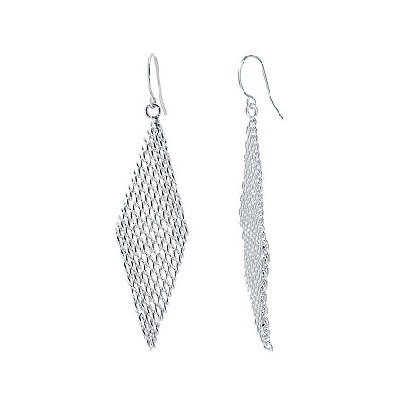 Silver-Plated Mesh Kite Earrings, One Size , No Color Family