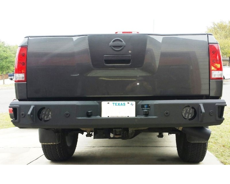 Hammerhead Armor 600-56-0256 Titan Rear Bumper With Sensors For 10-15 Nissan Titan Black Steel