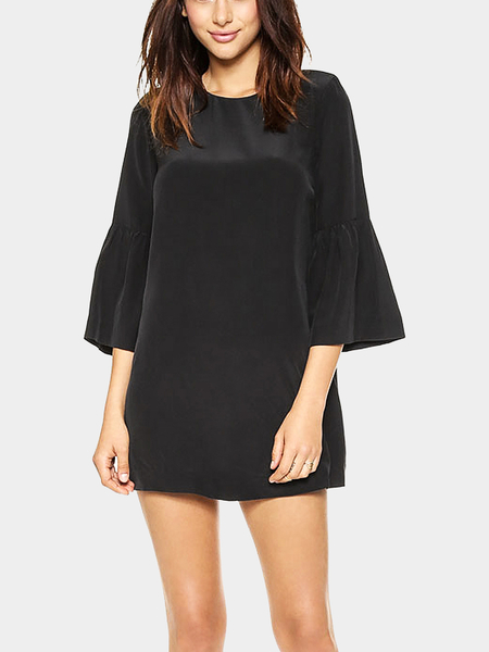 Yoins Mini Shift Dress with Frill Detail