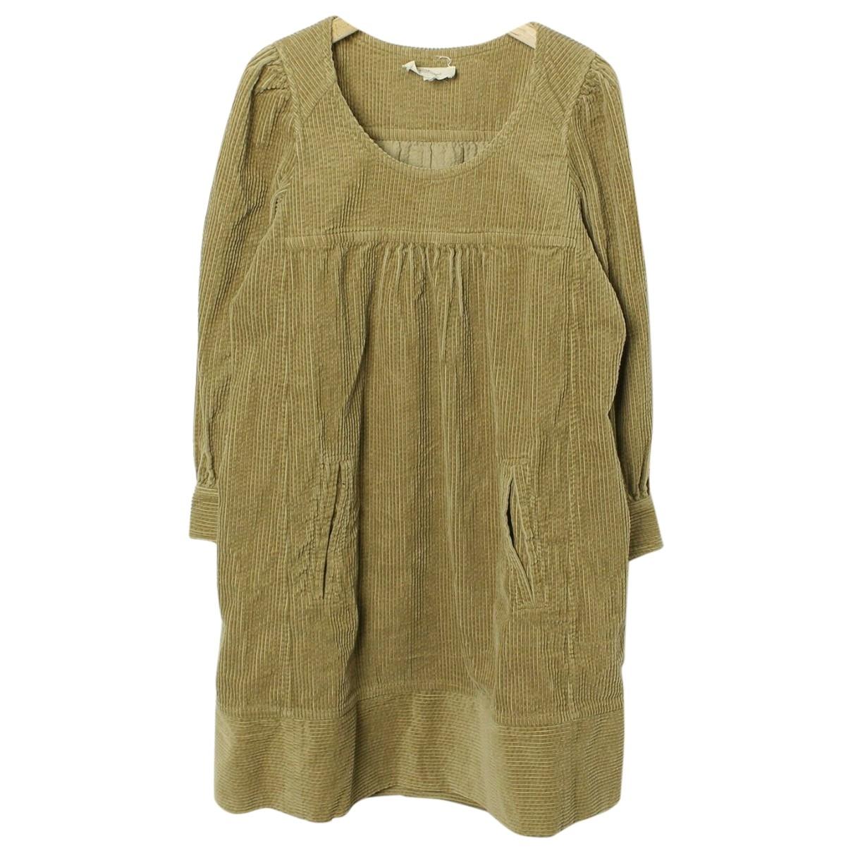 Isabel Marant Etoile \N Kleid in  Gelb Baumwolle
