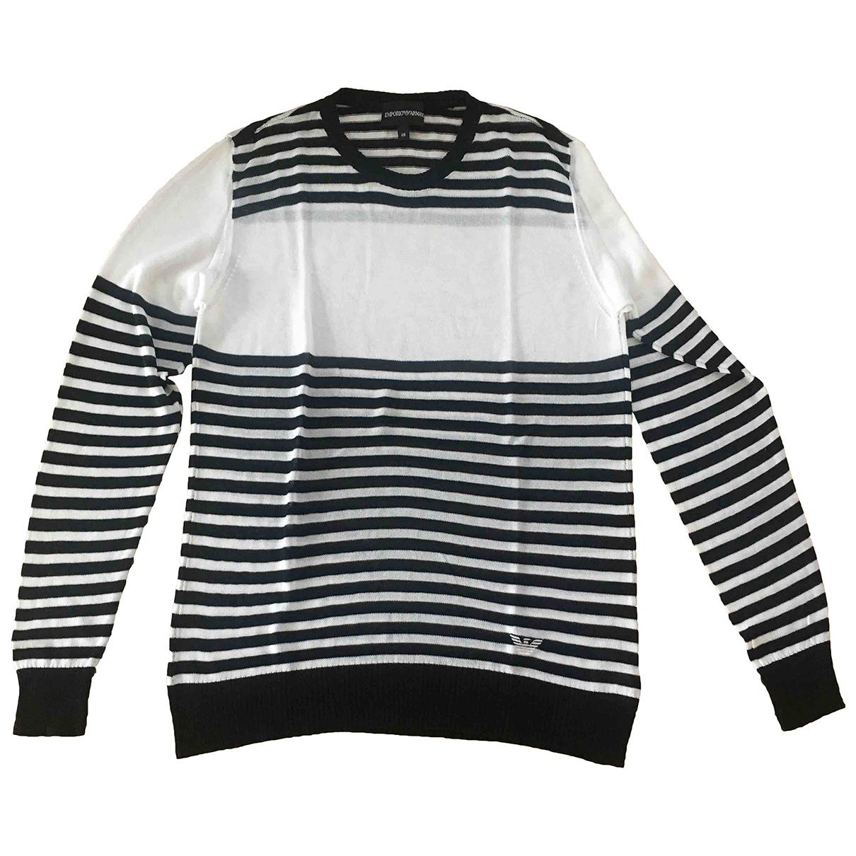Emporio Armani - Pulls.Gilets.Sweats   pour homme en coton - blanc