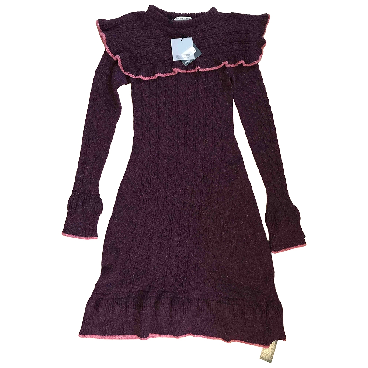 Philosophy Di Lorenzo Serafini \N Purple Wool dress for Women 40 IT
