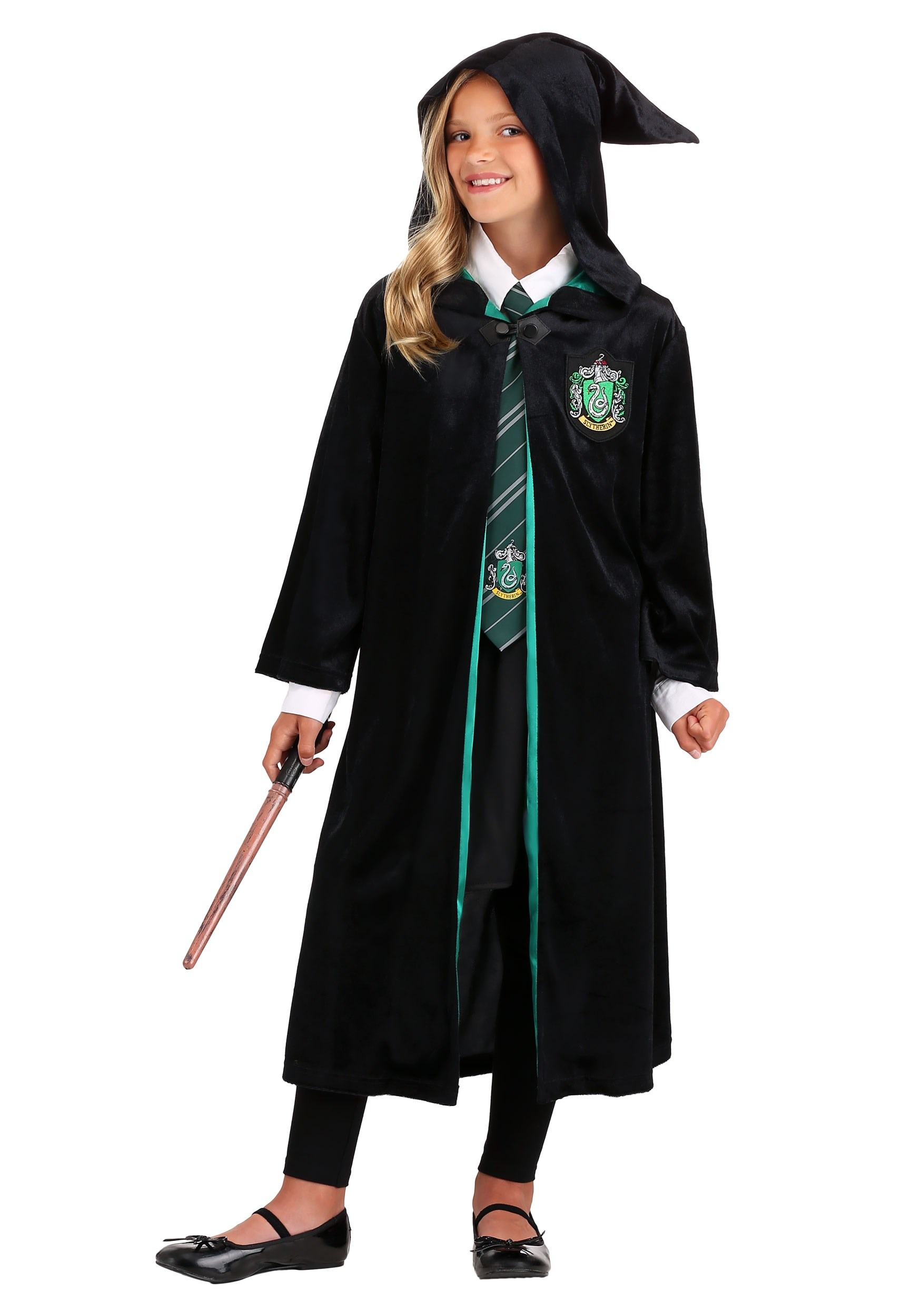 Kids Harry Potter Deluxe Slytherin Robe Costume