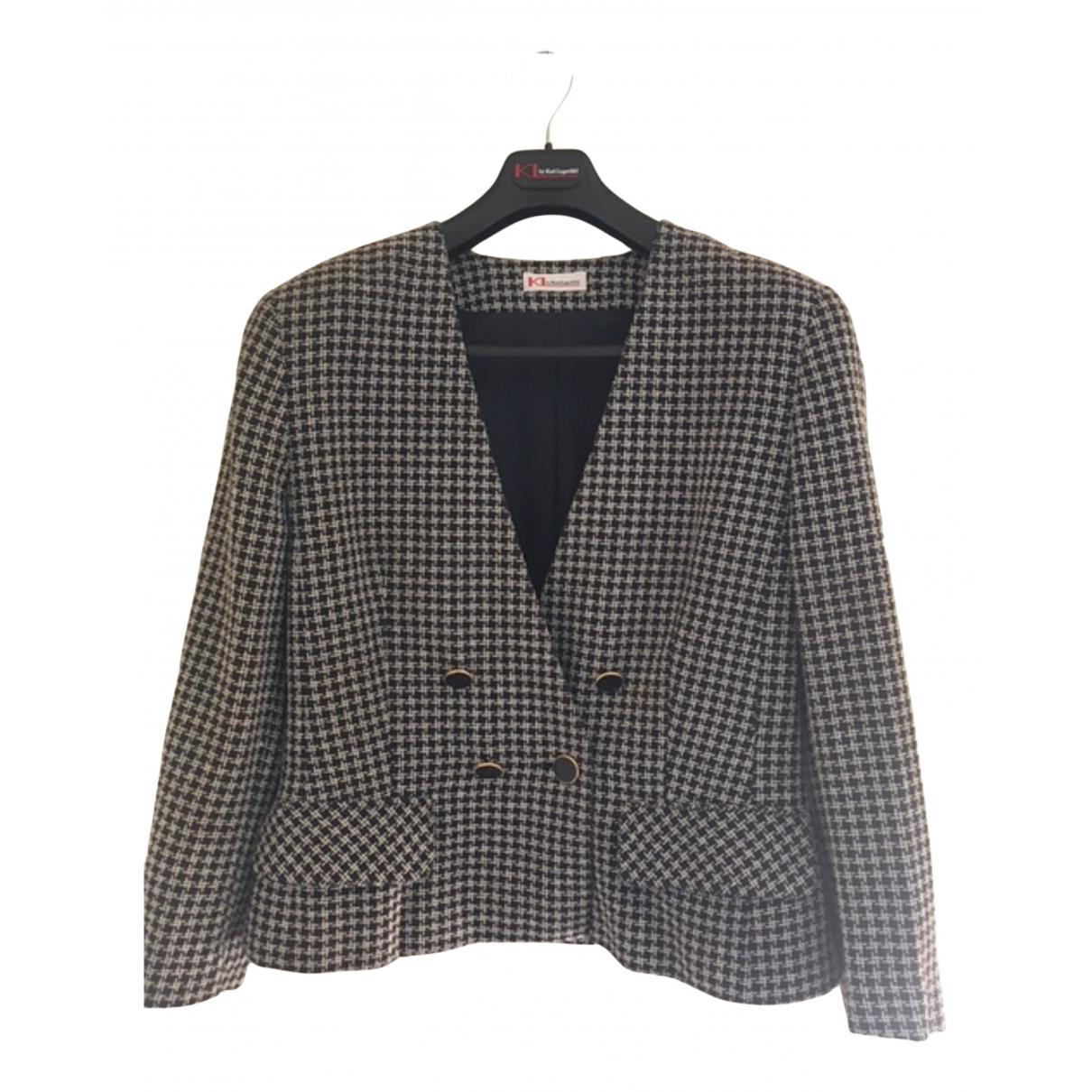Karl Lagerfeld N Blue Cotton jacket for Women 46 IT
