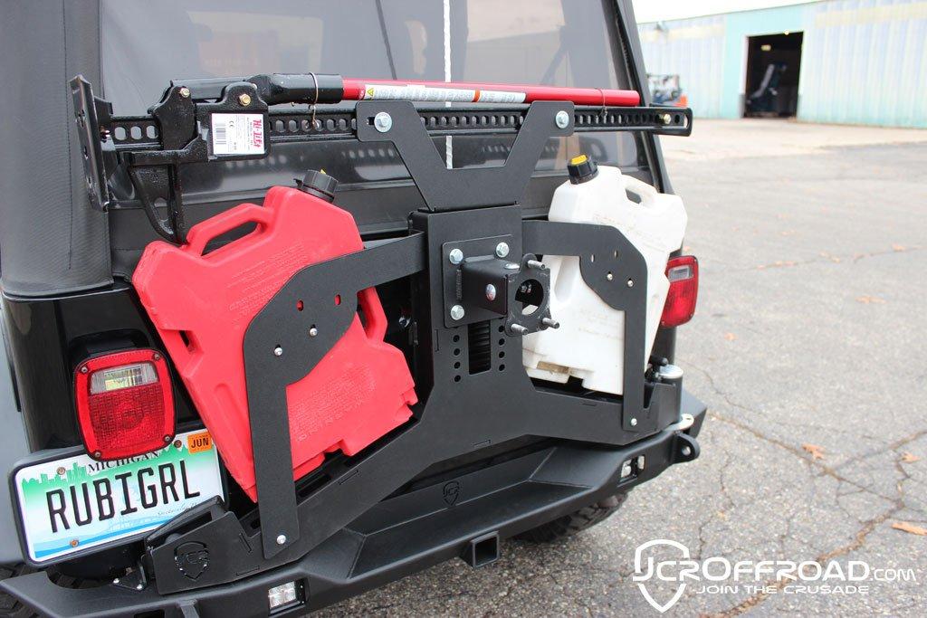 CJ7 Tire Carrier Rear Bumper Upper Adventure Bare JCR Offroad SWBAC-Bare
