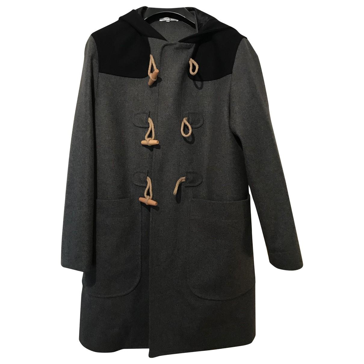 Carven - Manteau   pour homme en laine - gris