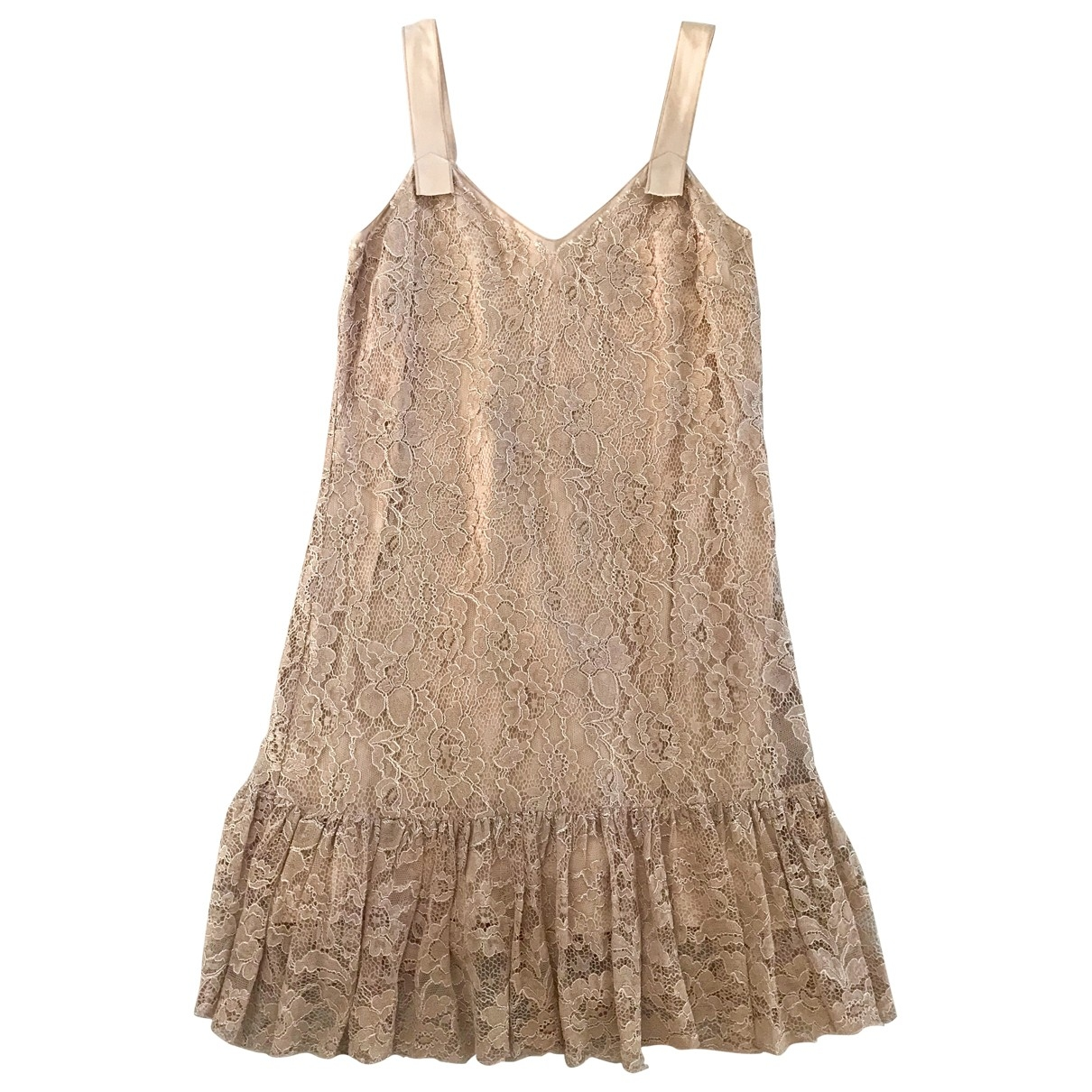 Dolce & Gabbana - Robe   pour femme en dentelle - beige
