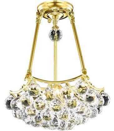 V9802D14G/RC 9802 Corona Collection Pendant Ceiling Light D:14In H:12In Lt:3 Gold Finish (Royal Cut