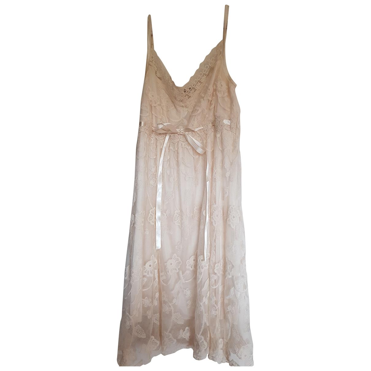 - Robe   pour femme en dentelle - beige