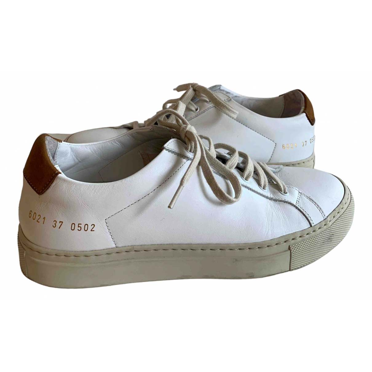 Common Projects \N White Leather Trainers for Women 37 EU