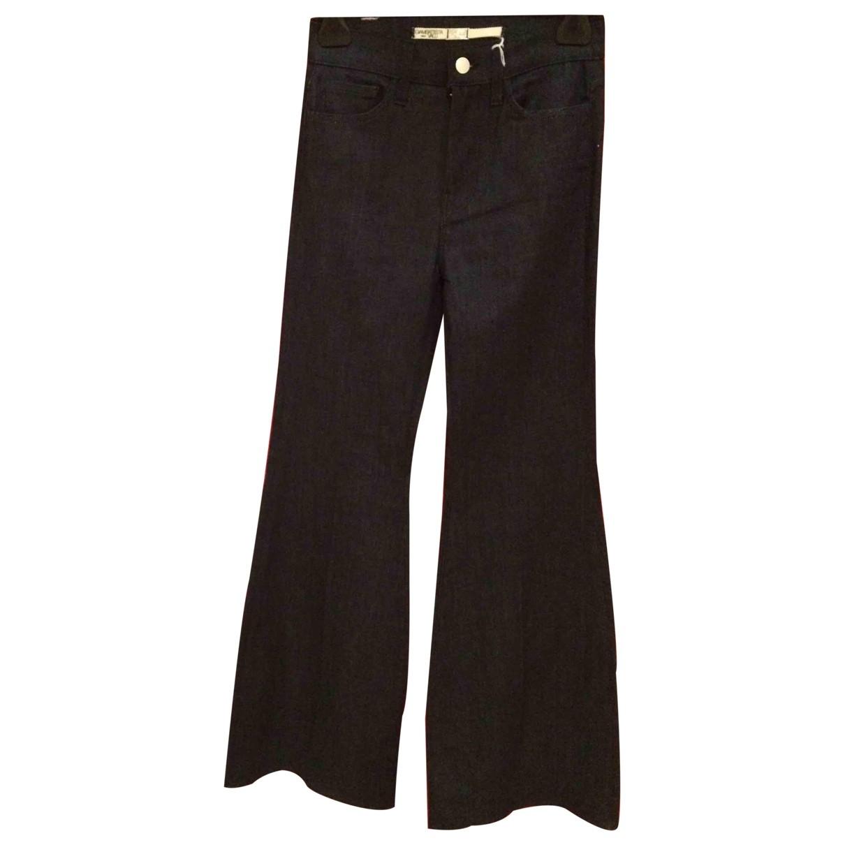 Giambattista Valli \N Blue Cotton - elasthane Jeans for Women 35 FR
