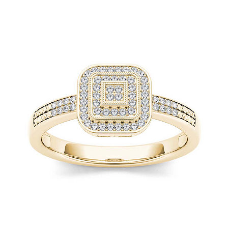1/6 CT. T.W. Diamond 10K Yellow Gold Engagement Ring, 9 , No Color Family