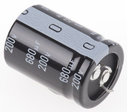 Nichicon 680μF Electrolytic Capacitor 200V dc, Through Hole - LGU2D681MELA