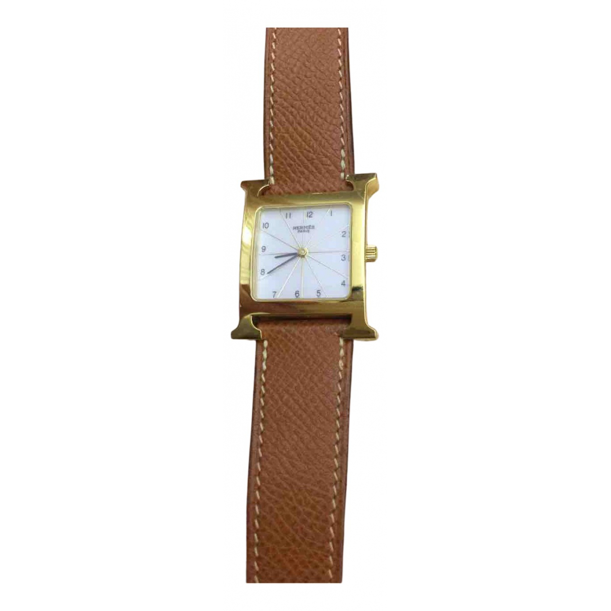 Hermès Heure H Brown Gold plated watch for Women N
