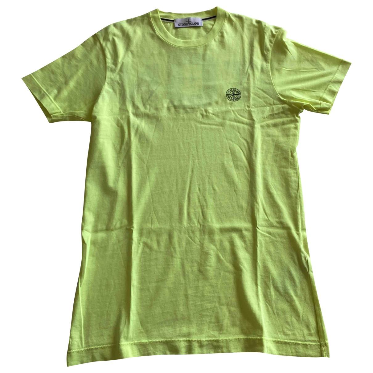 Stone Island \N T-Shirts in  Gelb Baumwolle