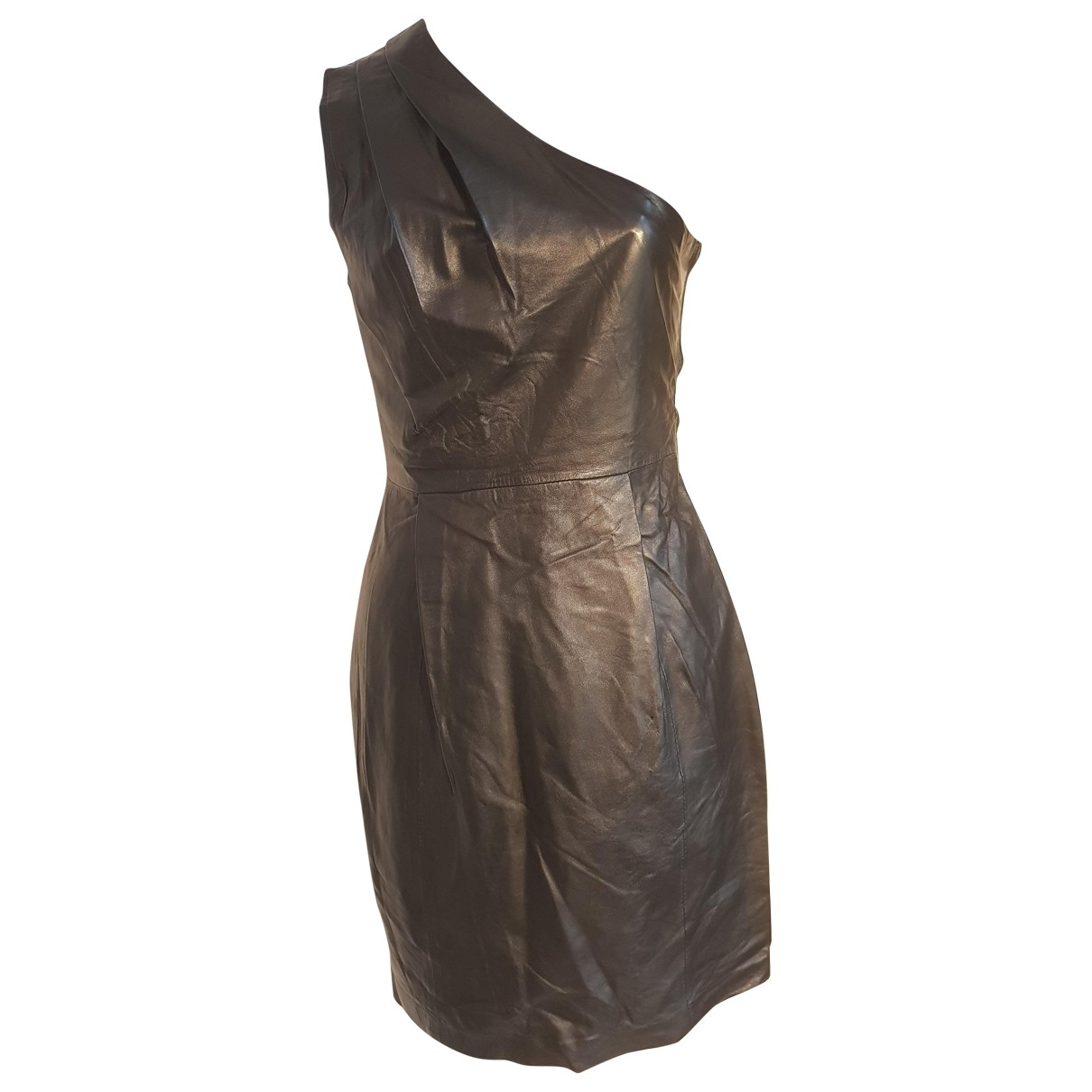 Jimmy Choo For H&m \N Kleid in  Schwarz Leder