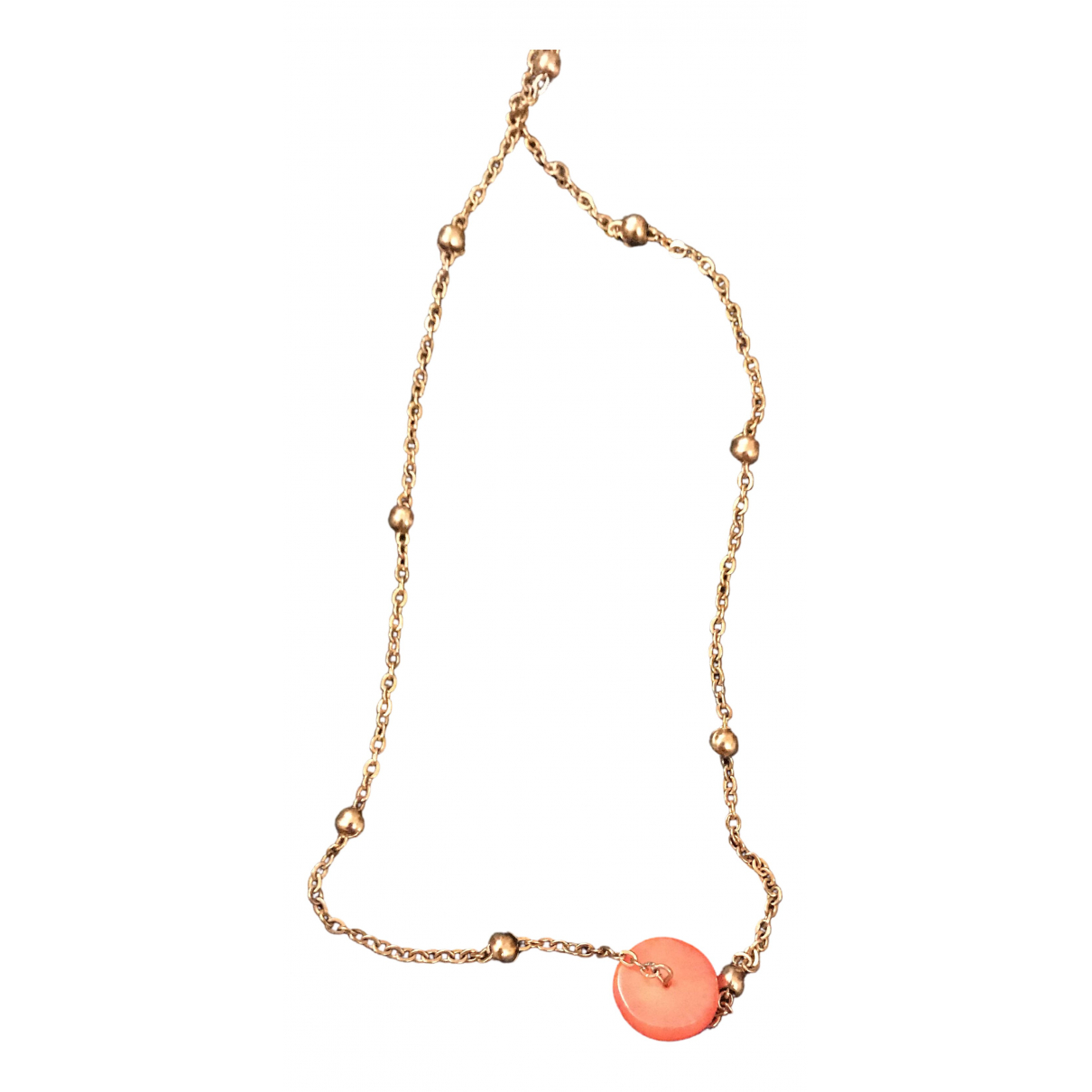 Non Signe / Unsigned Corail Kette in  Gold Metall