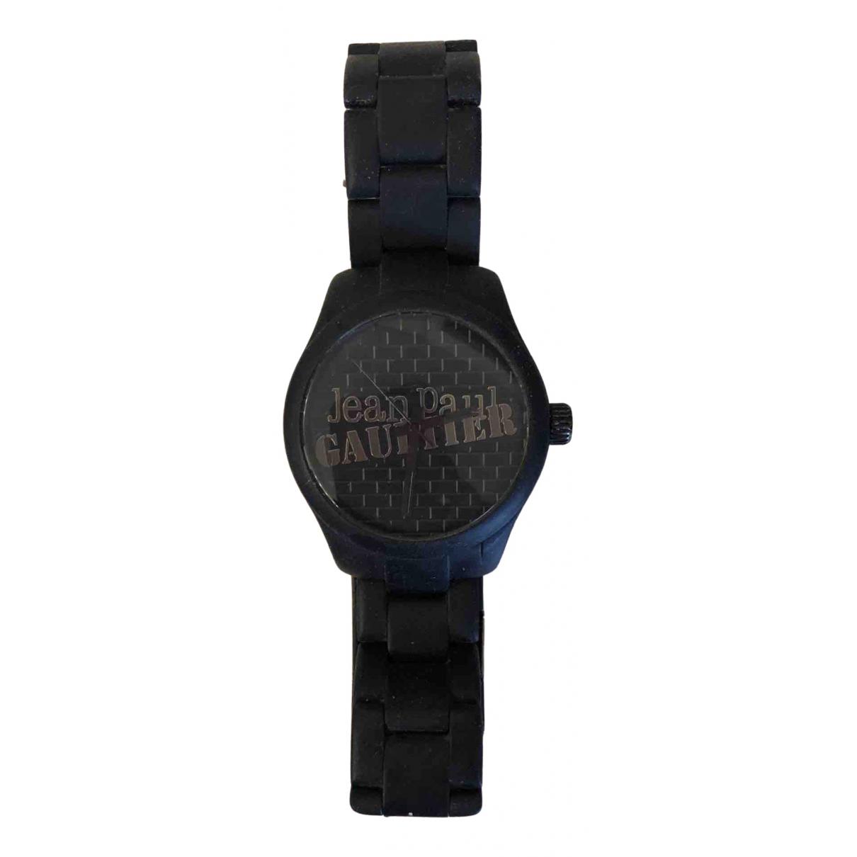 Jean Paul Gaultier \N Uhr in  Schwarz Stahl