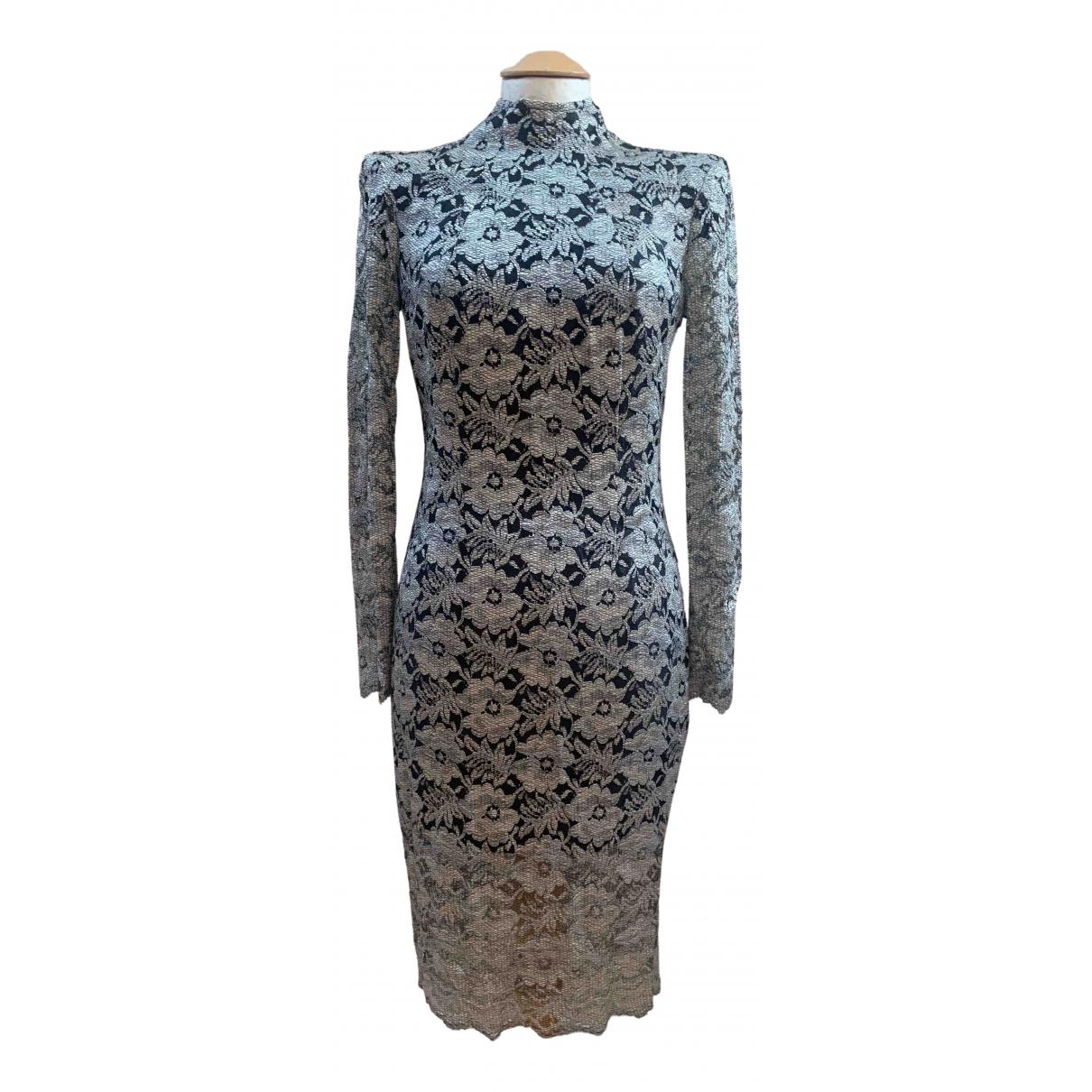 Lover - Robe   pour femme en dentelle - metallise