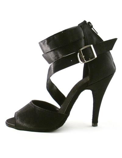 Milanoo Zapatos de bailes latinos de color negro de estilo sexy