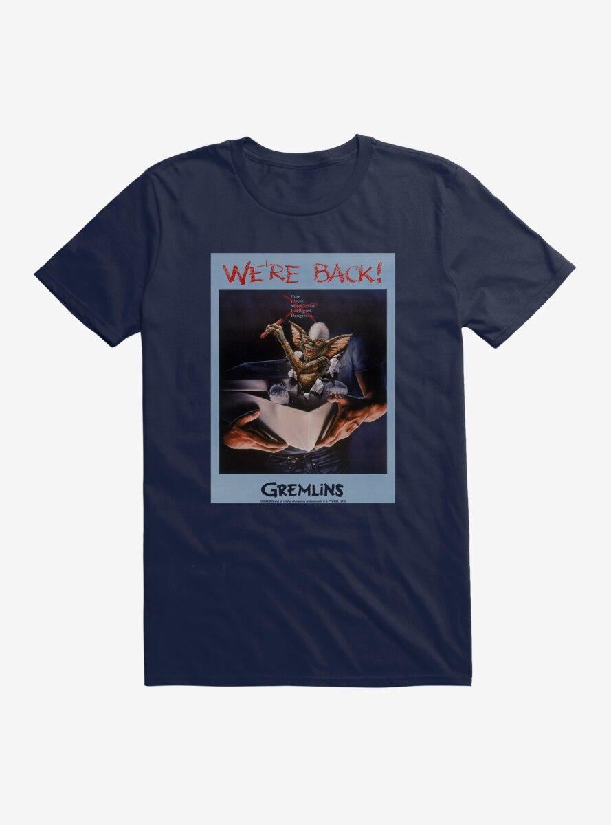 Gremlins Stripe We're Back Polaroid T-Shirt