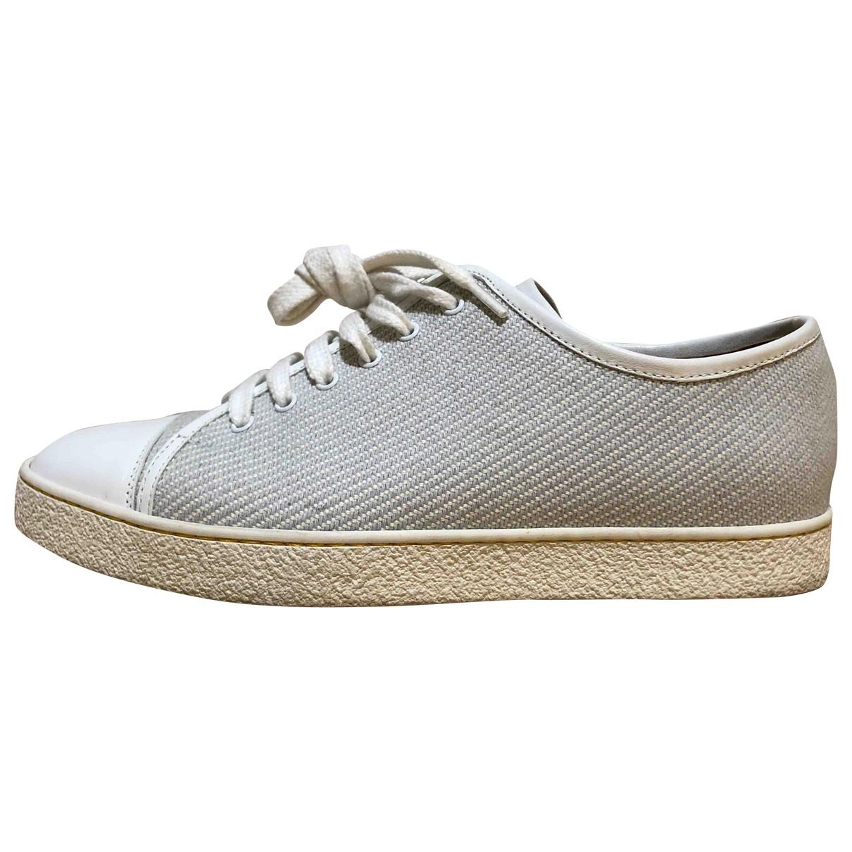 John Lobb \N Sneakers in  Ecru Leder