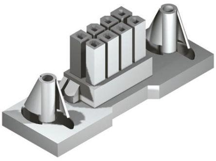 Molex , Mini-Fit BMI Female Connector Housing, 4.2mm Pitch, 4 Way, 2 Row (5)