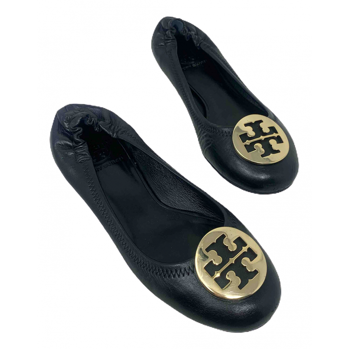 Tory Burch \N Black Leather Ballet flats for Women 37.5 EU