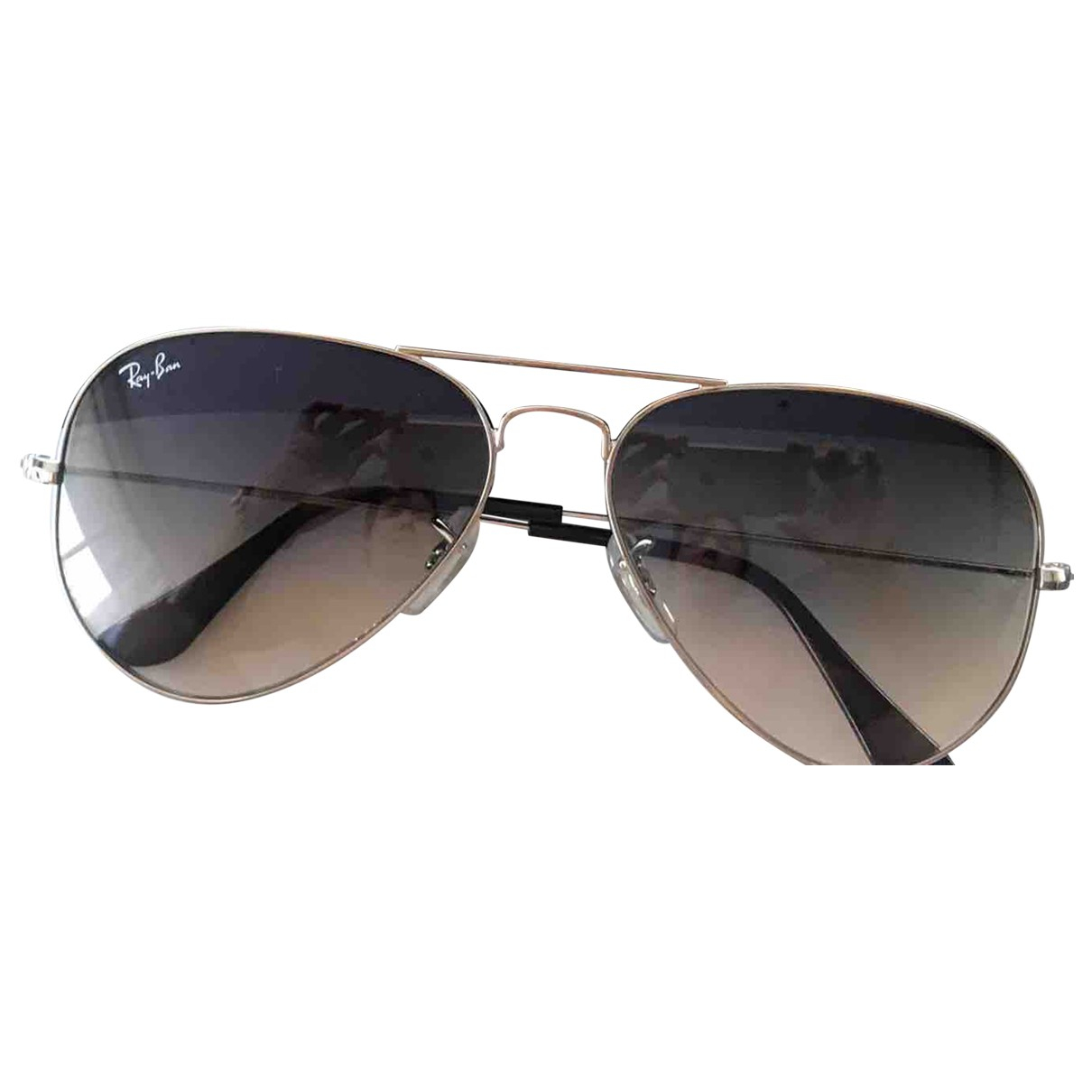 Ray-ban Aviator Grey Metal Sunglasses for Men N