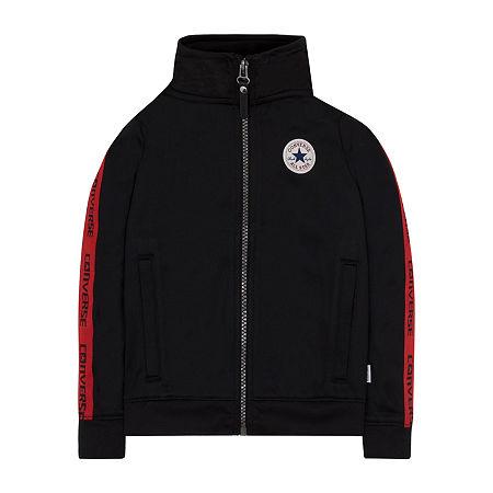 Converse Big Boys Lightweight Track Jacket, X-large (18-20) , Black