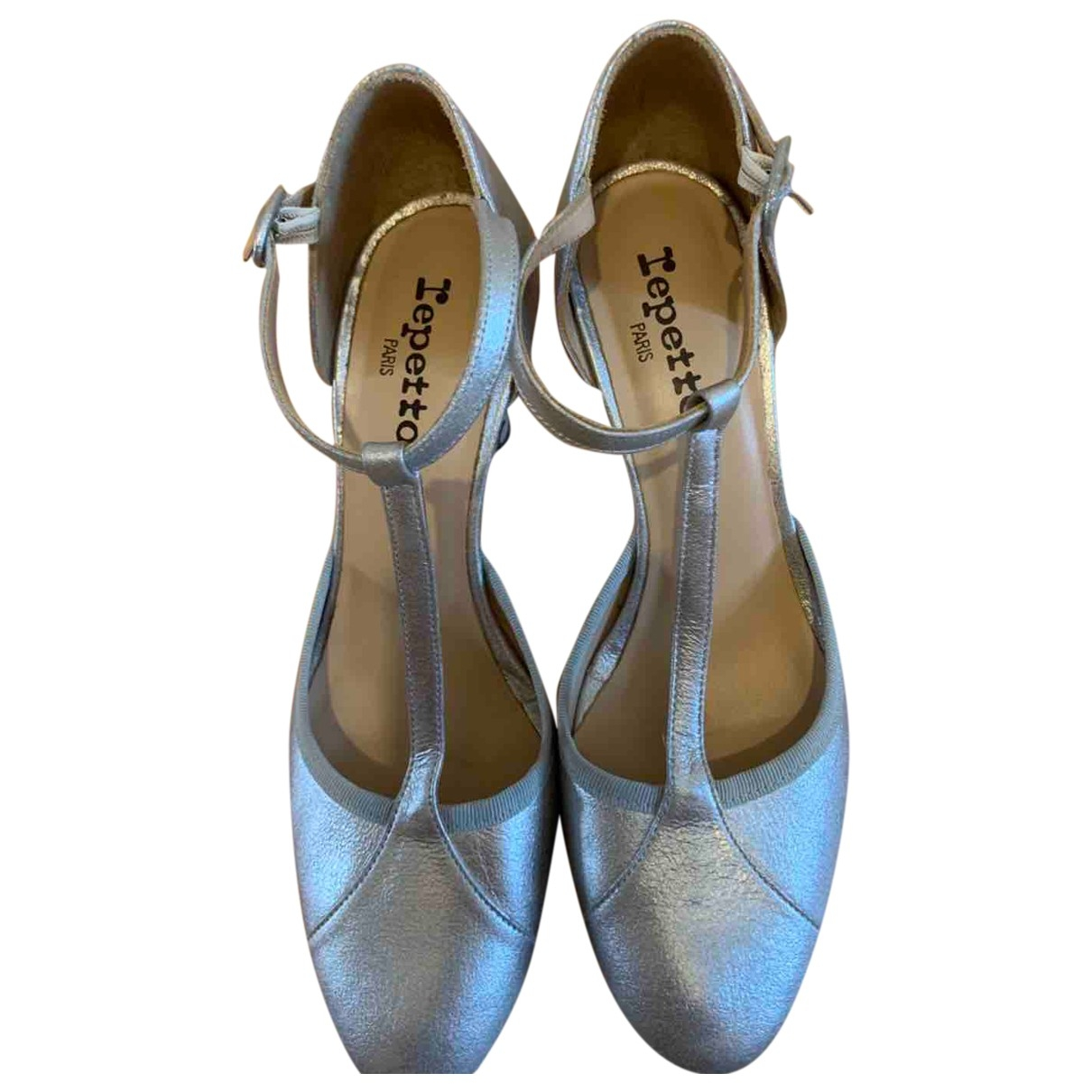 Repetto \N Silver Leather Heels for Women 39 EU