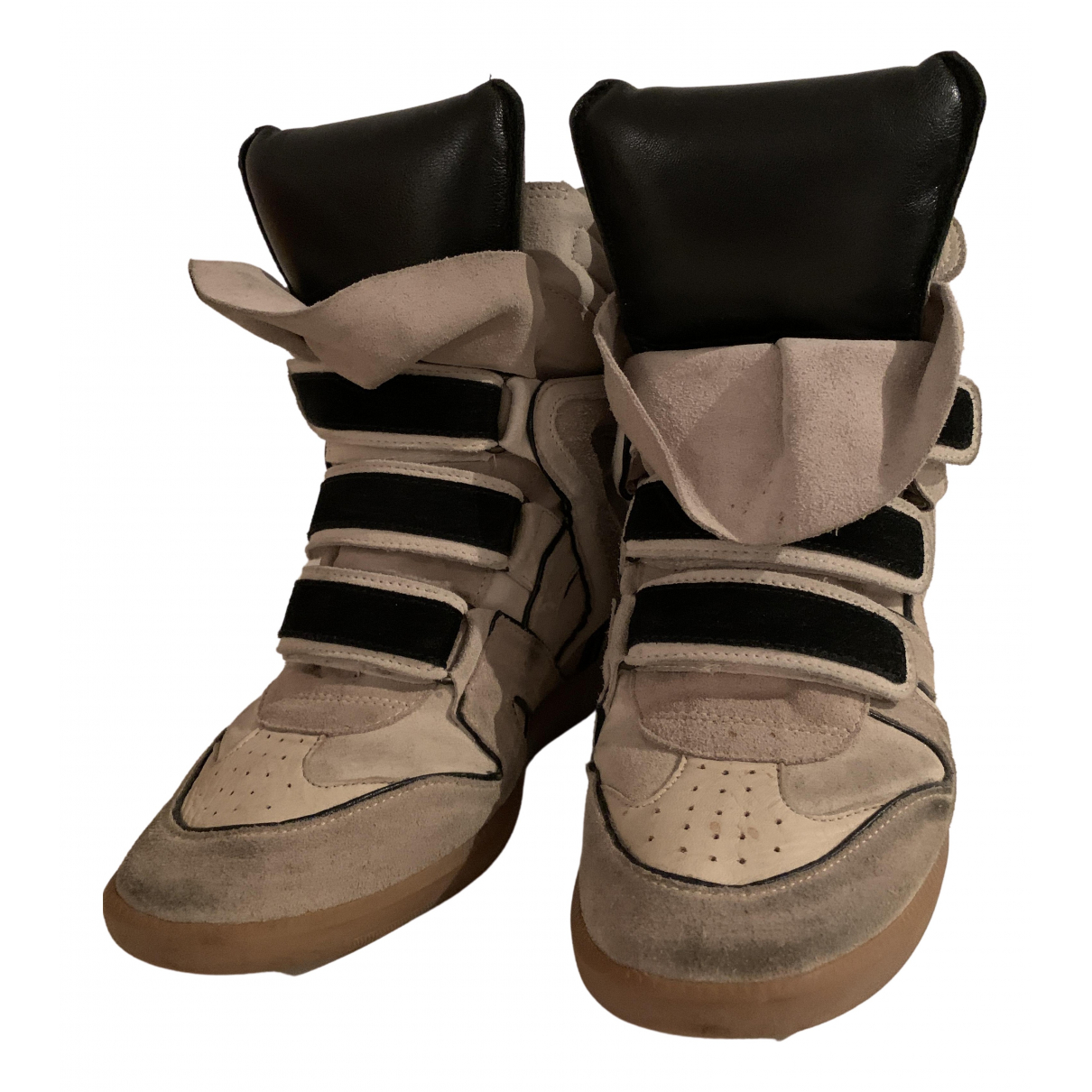 Isabel Marant - Baskets Beckett pour femme en suede - beige