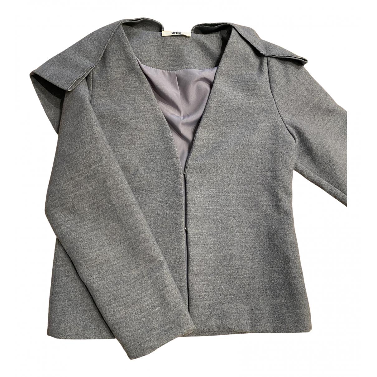 Prada - Veste   pour femme en laine - gris