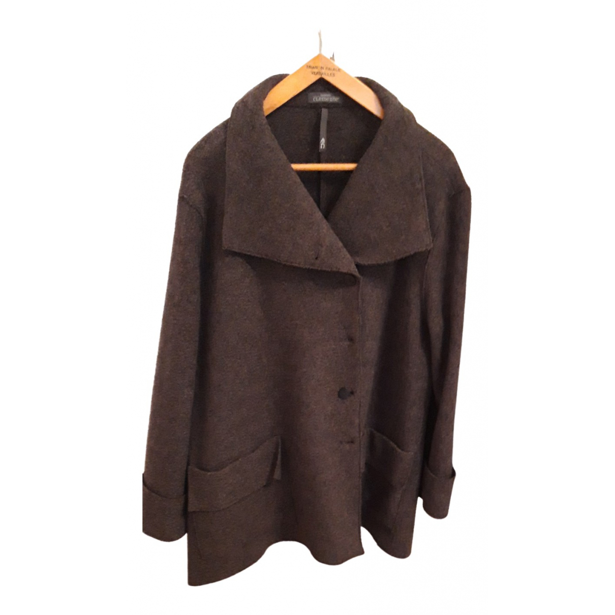 Non Signé / Unsigned N Anthracite Wool coat for Women 3 0-5