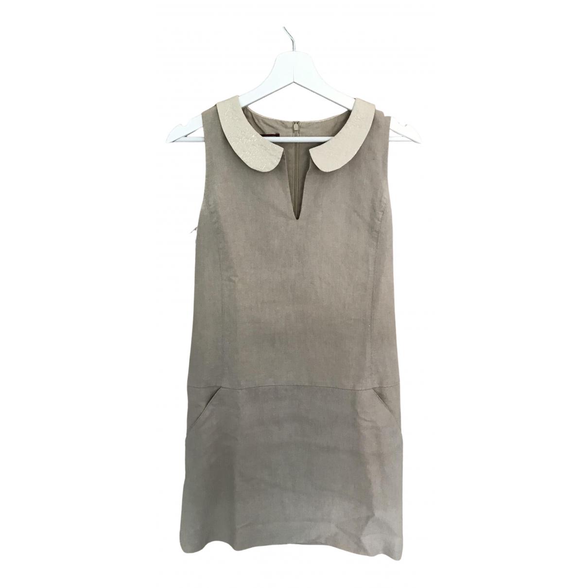 Comptoir Des Cotonniers - Robe   pour femme en lin - beige