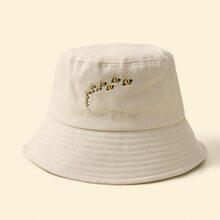 Bee Embroidery Bucket Hat