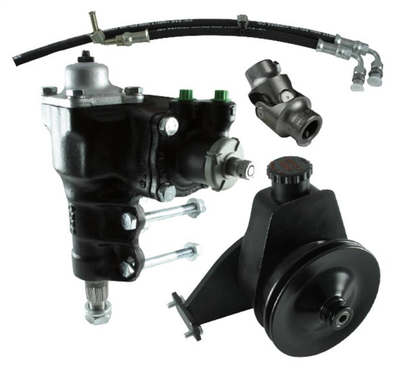 Borgeson 999060 Power Steering Conversion Kit; 66-77 Ford Bronco with factory M/S and 6 Cylinder Ford Bronco 1966-1974